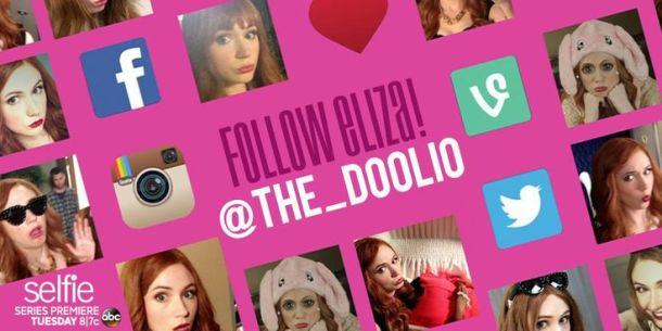 eliza selfie serie americaine social tv doolio twitter instagram