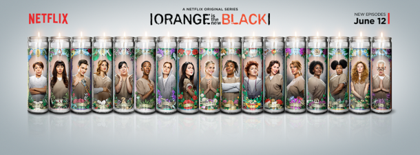 OITNB poster bougies orange is the new black